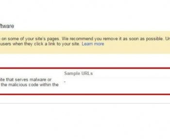 اخطار گوگل وب مستر